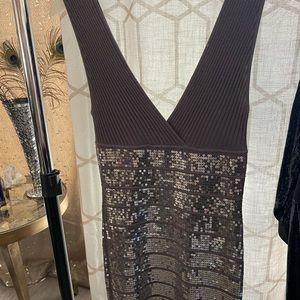 Sparkle gray cocktail dress